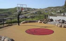 Resilient Basketball Surface, Blossom Valley, CA